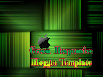 green responsive blogger templates