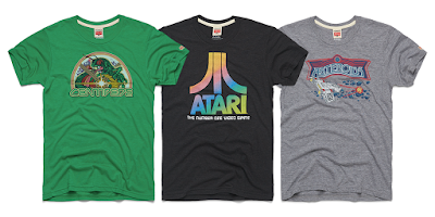 Atari Arcade Game T-Shirt Collection by HOMAGE