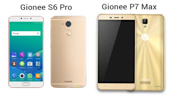 "2016 Gionee officially launched S6 Pro and P7 Max with 3GB RAM, MediaTek chipset, and 5.5"" HD IPS display"