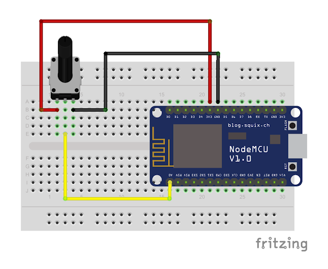 Arduino er nodemcu to read analog input a
