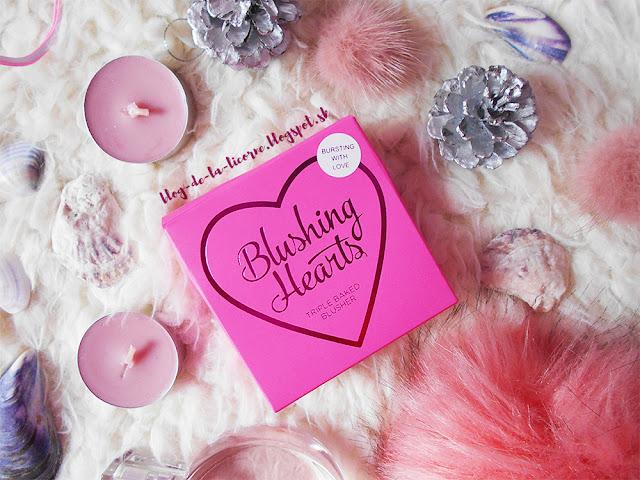 Makeup Revolution London I Heart Makeup Blushing Hearts recenzia