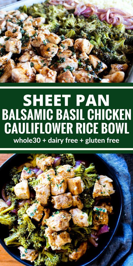 SHEET PAN BALSAMIC BASIL CHICKEN RECIPES