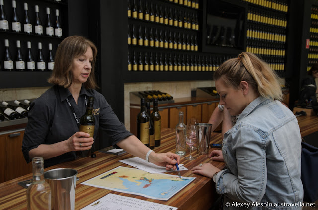 Wine tasting at Wolf Blass Visitor Centre, Barossa Valley, South Australia