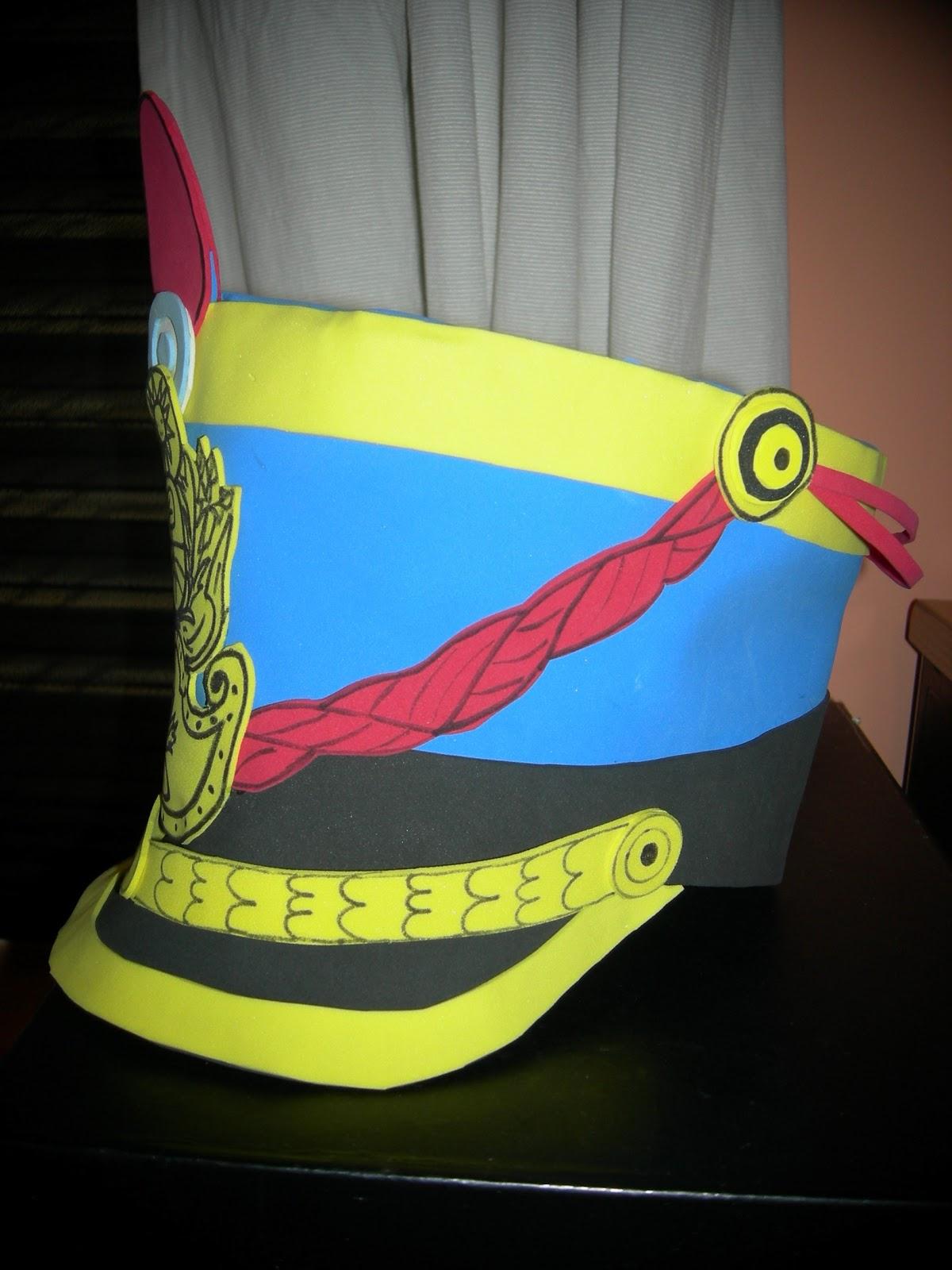 Arte Gabrielle Disfraces Soldado Patrio Pechera Gorro Y