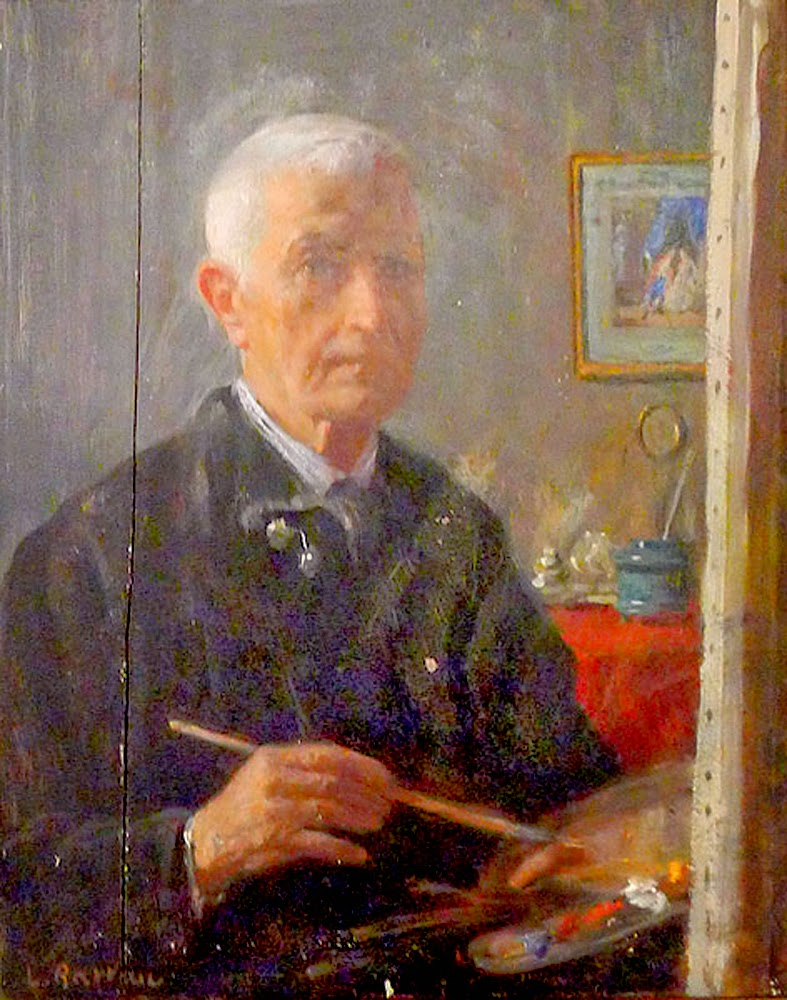 Laureano Barrau Buñol, portrait of painters