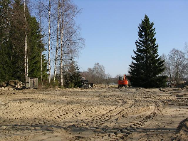 rakentaminen maapohjat tasoitettu