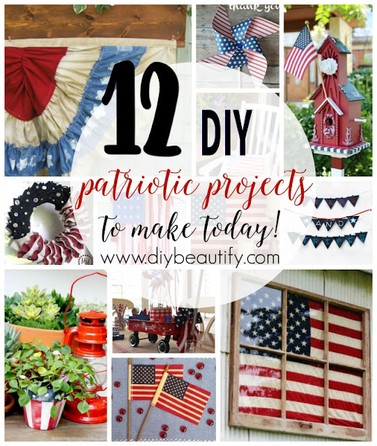 This collection of DIY projects is perfect for July 4th or any patriotic celebration! Find the collection at diy beautify!