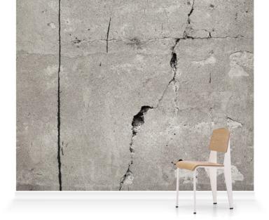 betongtapet med spricka fototapet betongvägg fondtapet grå