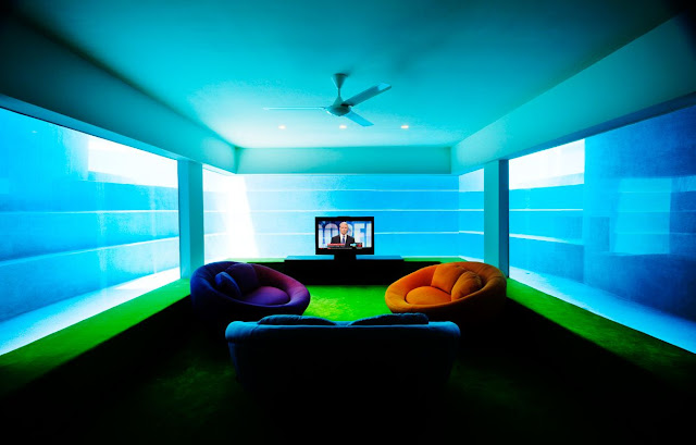 TV room under water
