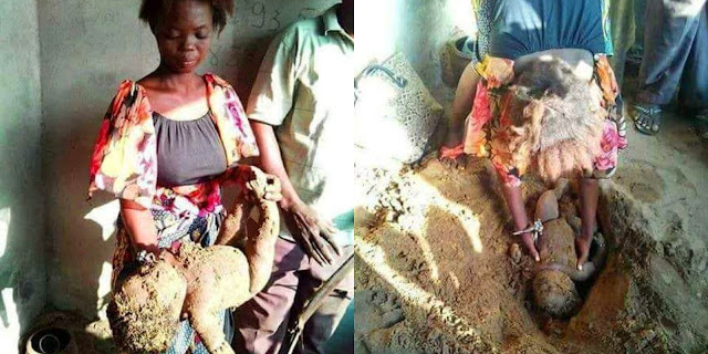 Why Heartless Mother Buried Her 3-Month-Old Son Alive [PHOTOS]