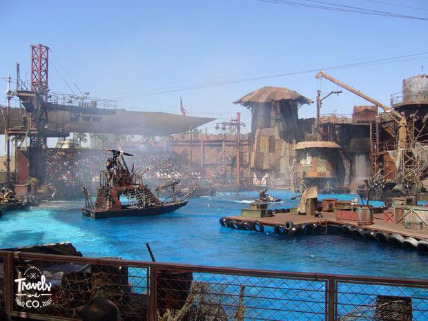 Visita a los Universal Studios en California atraccion Waterworld
