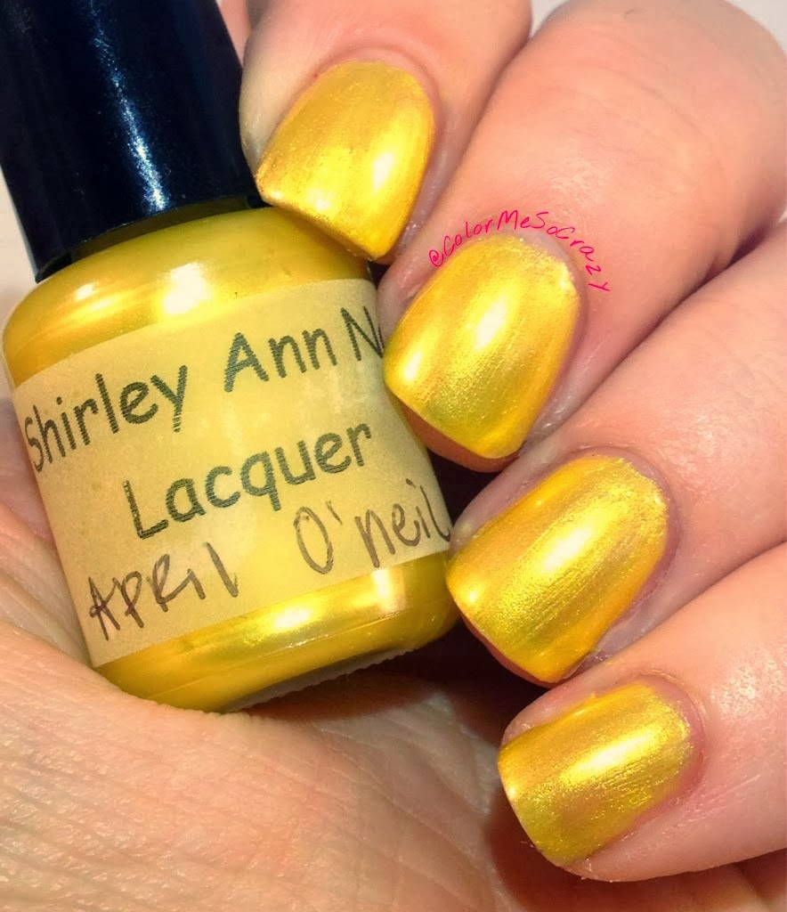 Shirley Ann Nail Lacquer Teenage Mutant Ninja Turtles Collection April O'Neil