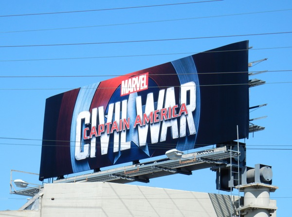 Marvel Captain America Civil War billboard