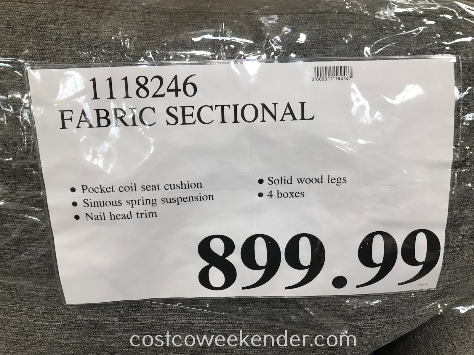 Deal for the Fabric Sectional at Costco