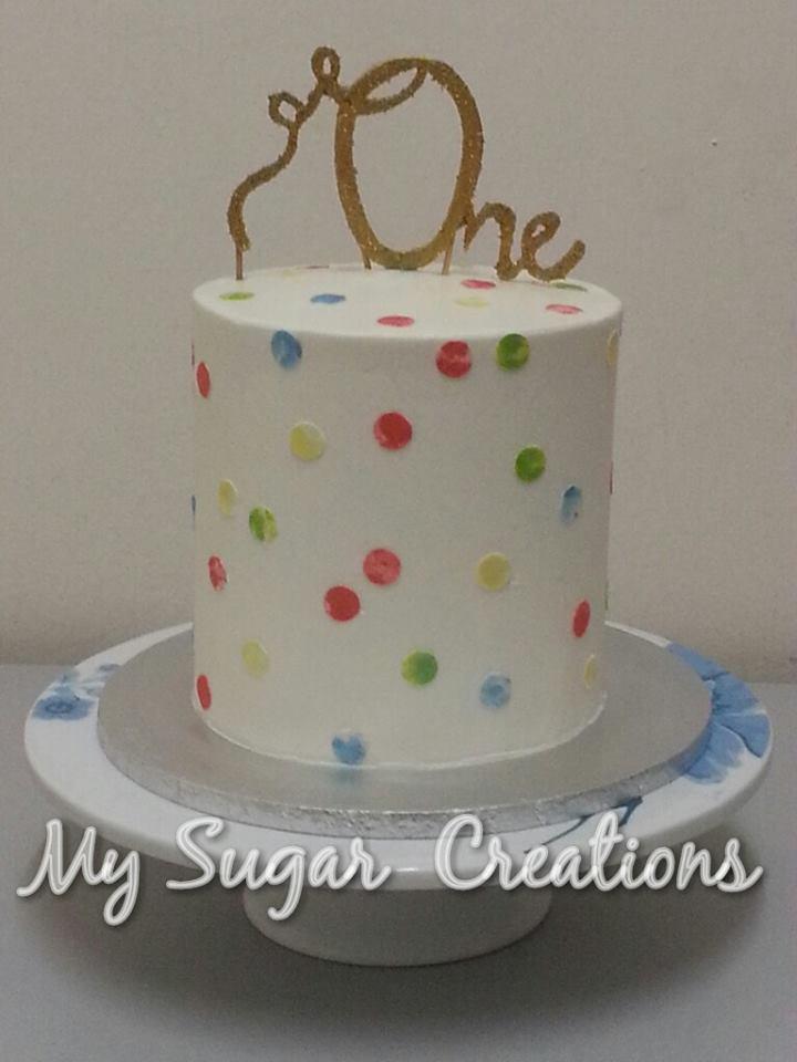 My Sugar Creations 001943746M OneYearOld Rainbow Cake