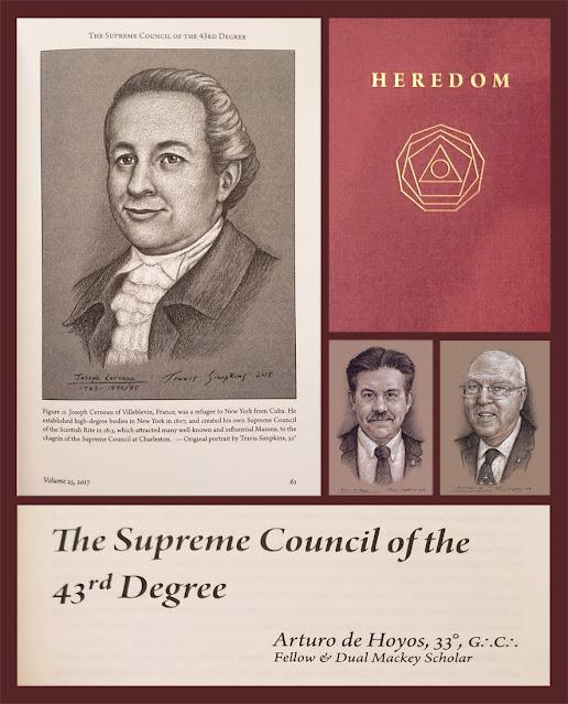Heredom. Scottish Rite, SJ. Arturo de Hoyos. S Brent Morris. Joseph Cerneau. Artwork by Travis Simpkins