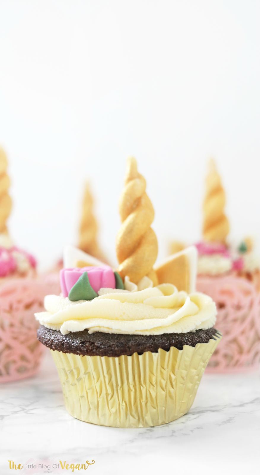 unicorn cupcake recipe the little blog of vegan