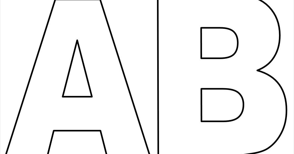 Moldes de letras grandes para imprimir. - Aprender e Brincar
