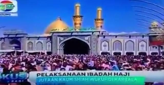 Bikin Haji Tandingan, Jutaan Penganut Syiah Wukuf di Karbala