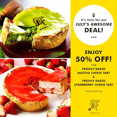 Pablo Cheesetart Malaysia Half Price Discount Offer July 2017 Promo