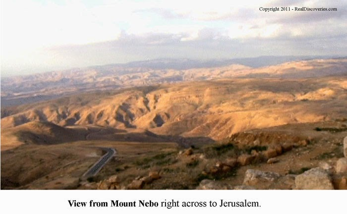 View from Mount Nebo right across to Jerusalem