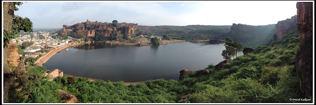 Agastya Lake view from Badami Cave 4