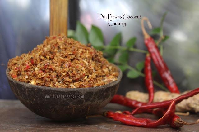 Dry Prawns Coconut Chutney