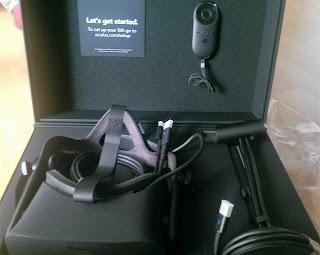 Quitando el plastiquete del Oculus
