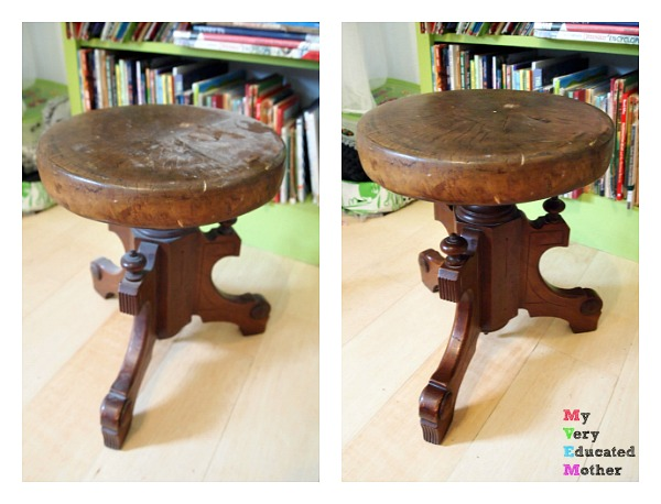 This poor stool was greatly neglected but bounced right back with a good cleaning!