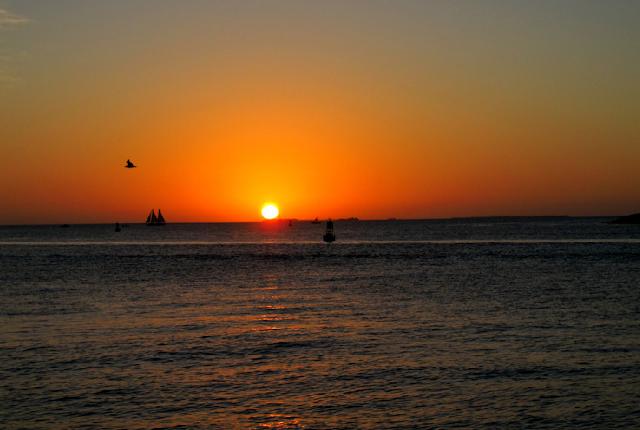 Por do sol romântico em Miami