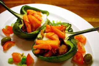 Spicy Seafood Stuffed Peppers