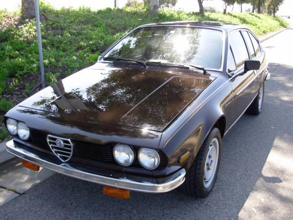 Original 1979 Alfa Romeo Alfetta