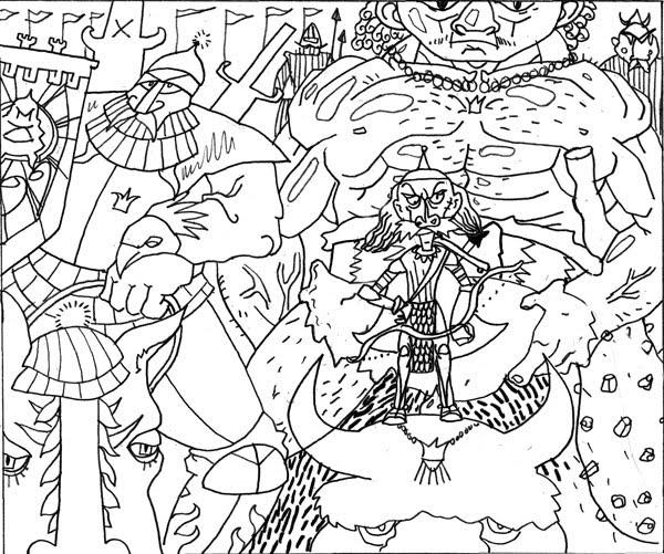 3 Recken (Entwurf für totschka Comic Goethe Institut)