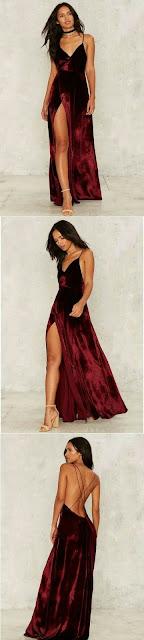 Velvet Prom Dress