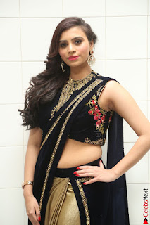 Priyanka Ramana in Beautiful Designer Black Saree At We Craft Elegance Expo Launch 031.JPG