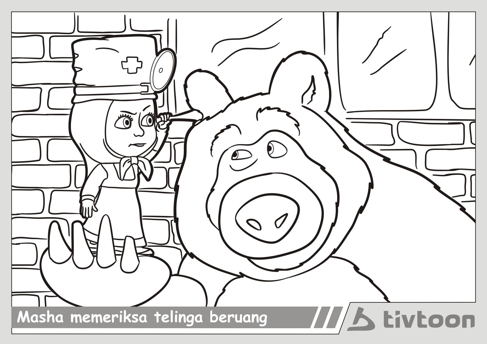Gambar Sketsa Kartun Masha