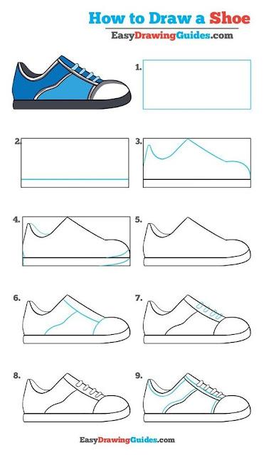 Menggambar Sepatu yang Keren? Berikut Tutorial dan Referensinya