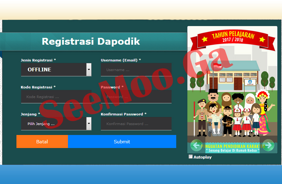 Cara Cepat Registrasi Dapodik Online dan Offline - SEEMOO.GA