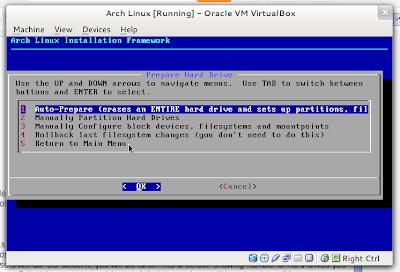 Arch Linux Prepare Hard Drive