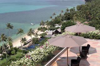 Vista panoramica dalla hall dell'hotel Intercontinental Samui