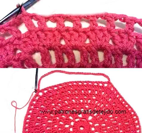 como se teje capa crochet redonda paso a paso