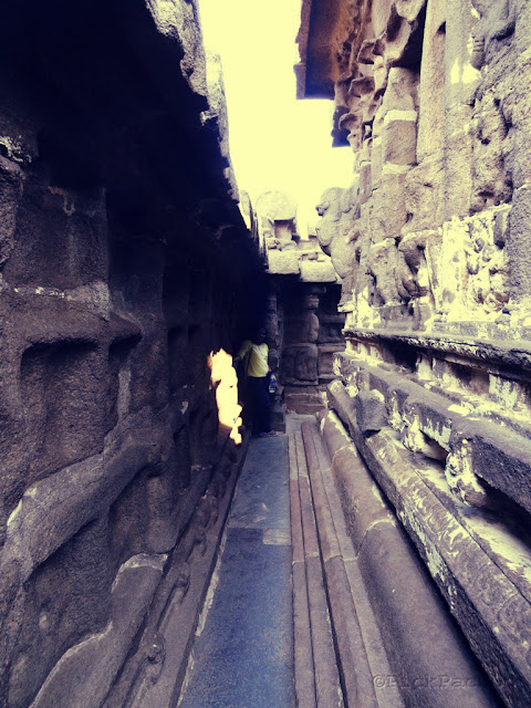 Interior of Shore temple - UNESCO   World Heritage Site - Mahabalipuram India - Pick, Pack, Go