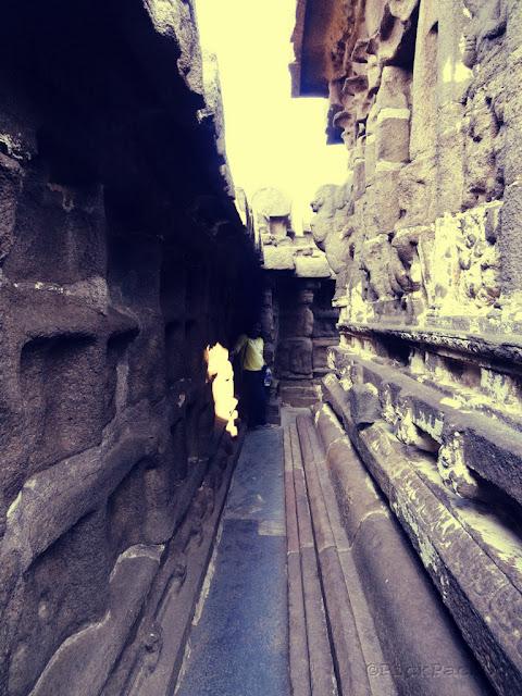 Interior of Shore temple - UNESCO   World Heritage Site - Mahabalipuram India - Pick, Pack, Go