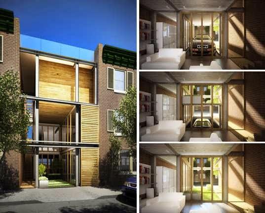Philadelphia Modern Multi Tiered Townhouse Design With