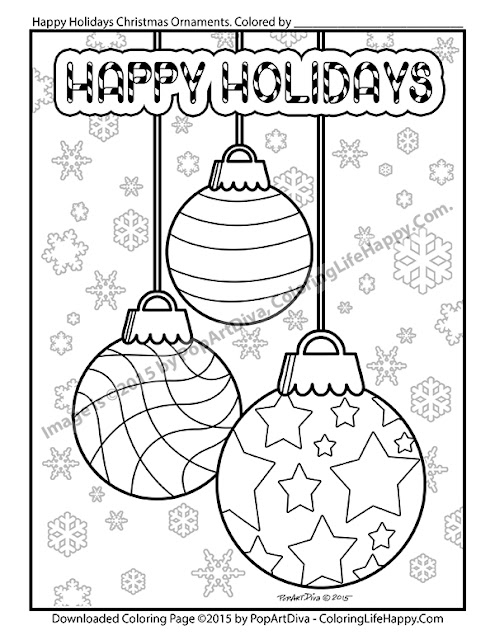 Coloring Life Happy: PRINTABLE COLORING PAGE - HOLIDAY ...
