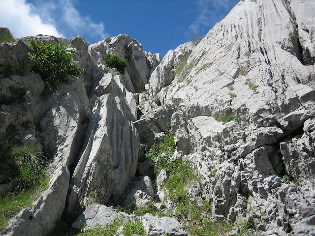 Rutas Montaña Asturias: Descendiendo por canal distinta algo más directa del Canto Cabronero