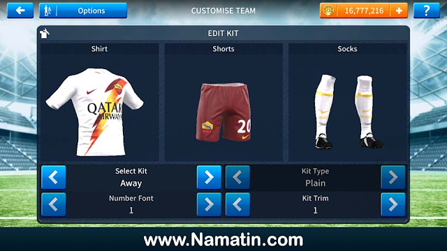 jersey dls as roma