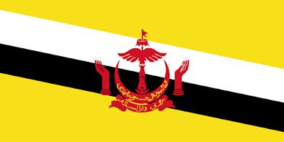 Logo Gambar Bendera Negara Brunei Darussalam PNG JPG ukuran 400 px
