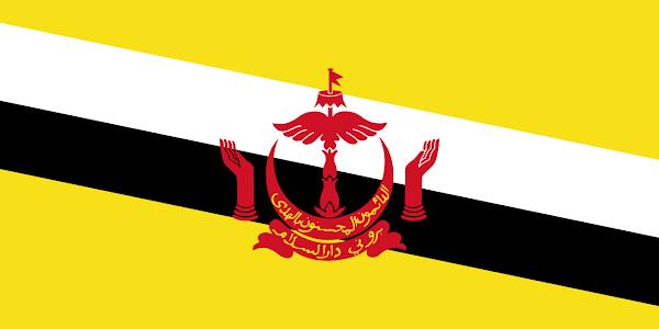 Logo Gambar Bendera Negara Brunei Darussalam PNG JPG ukuran 600 px