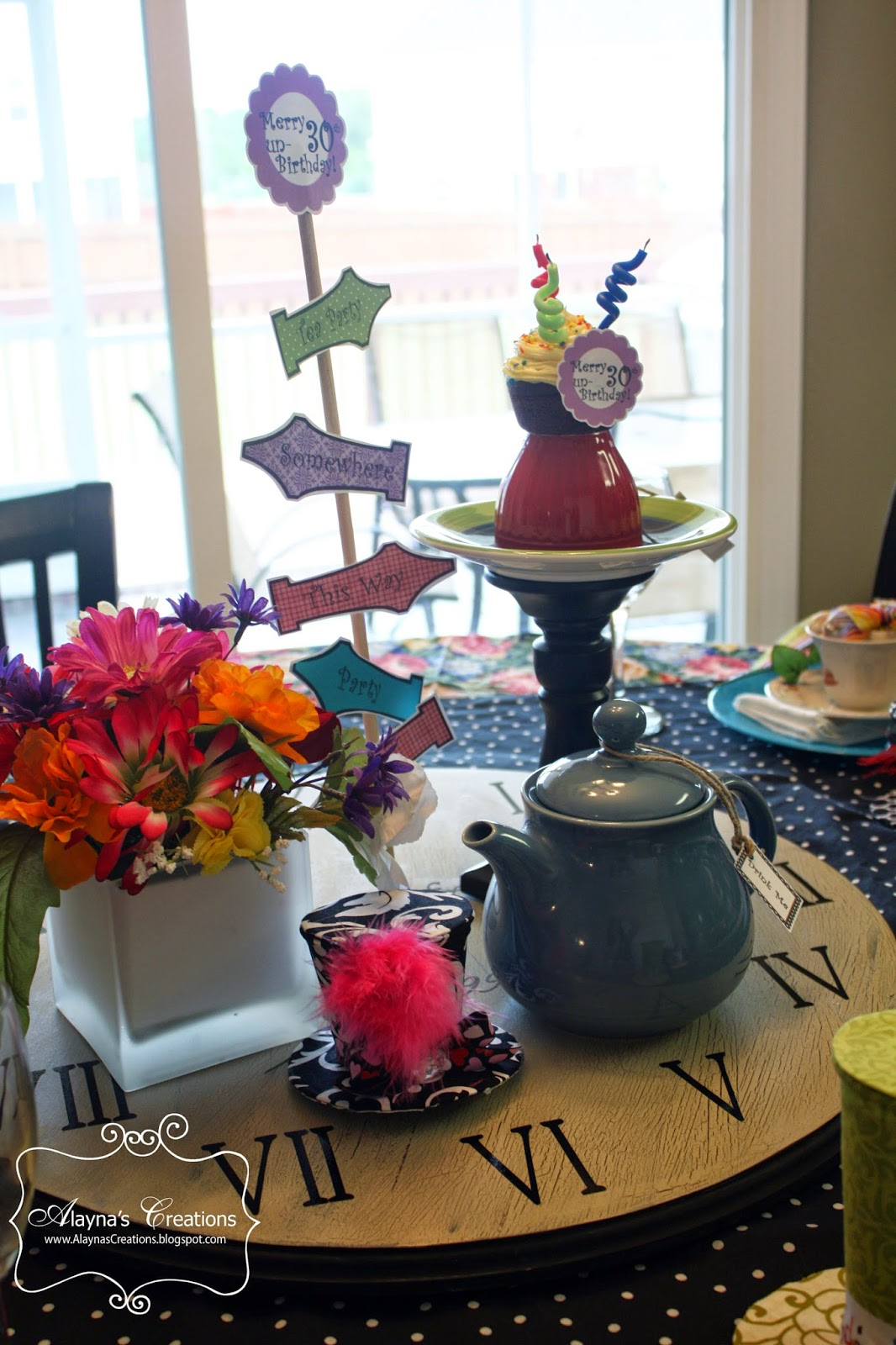Alayna S Creations 30th Unbirthday Mad Hatter Tea Party